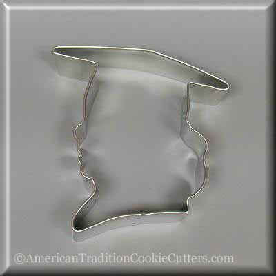 "3.75"" Graduation Girl Metal Cookie Cutter - American Tradition Cookie Cutters"