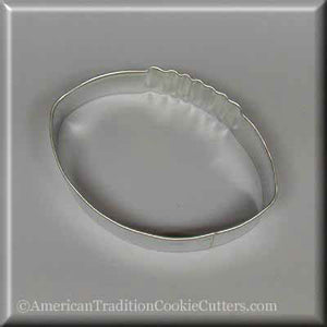 "3.5"" Football Metal Cookie Cutter - American Tradition Cookie Cutters"