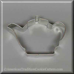 "3.75"" Teapot Metal Cookie Cutter - American Tradition Cookie Cutters"