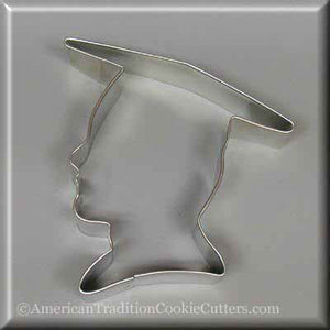 "4.25"" Graduation Boy Metal Cookie Cutter-americantraditioncookiecutters"
