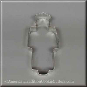 "4.75"" Graduation Graduate Metal Cookie Cutter-americantraditioncookiecutters"