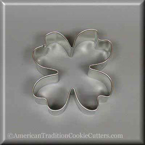 "3"" Dogwood Blossom Metal Cookie Cutter - American Tradition Cookie Cutters"