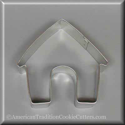 "3.5"" Dog House Metal Cookie Cutter"