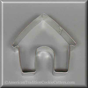 "3.5"" Dog House Metal Cookie Cutter - American Tradition Cookie Cutters"