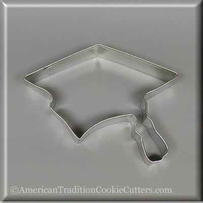 "4.5"" Graduation Cap Metal Cookie Cutter"