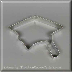 "4.5"" Graduation Cap Metal Cookie Cutter-americantraditioncookiecutters"