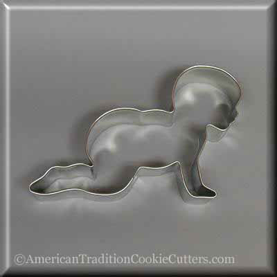 "5"" Crawling Baby Metal Cookie Cutter"