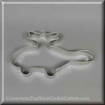 "5"" Helicopter Metal Cookie Cutter"