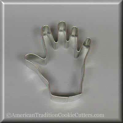 "3.25"" Right Hand Metal Cookie Cutter - American Tradition Cookie Cutters"