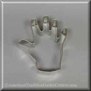 "3.25"" Right Hand Metal Cookie Cutter"