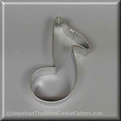 "3.5"" Music Note Metal Cookie Cutter"