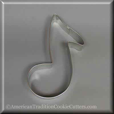 "5"" Music Note Metal Cookie Cutter-americantraditioncookiecutters"