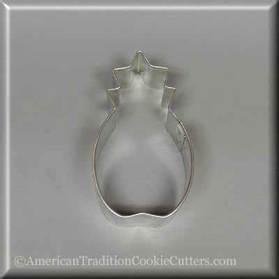 "3"" Pineapple Metal Cookie Cutter - American Tradition Cookie Cutters"