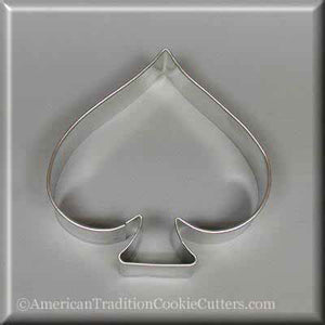 "3.5"" Spade Metal Cookie Cutter - American Tradition Cookie Cutters"
