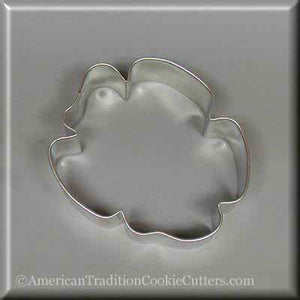 "3.25"" Sand Dollar Hibiscus Metal Cookie Cutter - American Tradition Cookie Cutters"