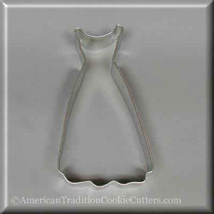 "4.75"" Dress Metal Cookie Cutter-americantraditioncookiecutters"