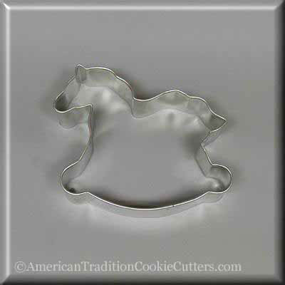 "4.25"" Rocking Horse Metal Cookie Cutter-americantraditioncookiecutters"