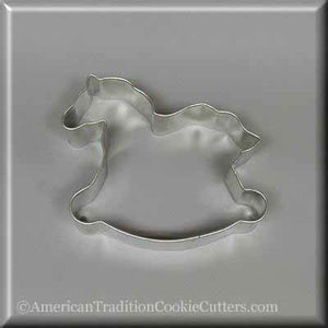 "4.25"" Rocking Horse Metal Cookie Cutter"