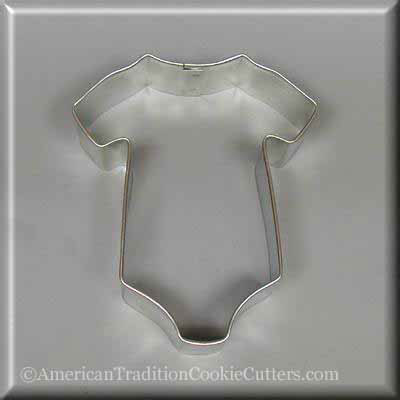 "3.5"" Baby One Piece T Shirt Metal Cookie Cutter"