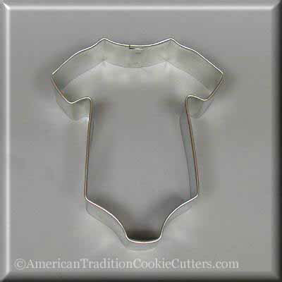 "3.5"" Baby One Piece T Shirt Metal Cookie Cutter - American Tradition Cookie Cutters"