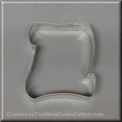 "5"" Scroll Metal Cookie Cutter-americantraditioncookiecutters"