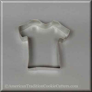 "4"" T Shirt Metal Cookie Cutter-americantraditioncookiecutters"