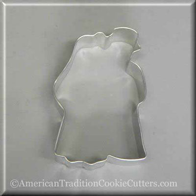 "4"" Bride and Groom Metal Cookie Cutter - American Tradition Cookie Cutters"