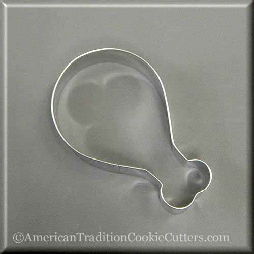 "4"" Turkey or Chicken Leg Drumstick Metal Cookie Cutter-americantraditioncookiecutters"