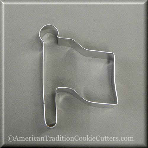 "4"" Flag Metal Cookie Cutter-americantraditioncookiecutters"