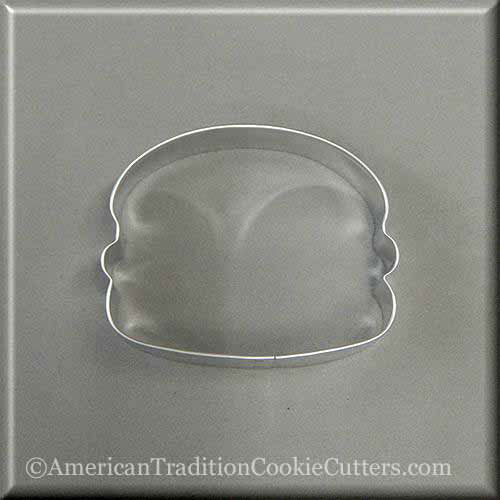 "3.5"" Hamburger Metal Cookie Cutter - American Tradition Cookie Cutters"