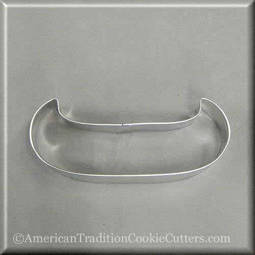 "4.5"" Canoe Metal Cookie Cutter-americantraditioncookiecutters"
