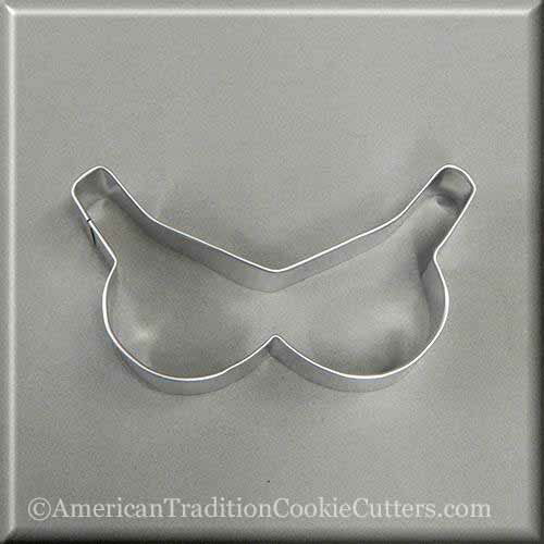 "4"" Bikini Top Bra Metal Cookie Cutter - American Tradition Cookie Cutters"