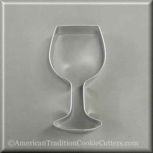"4"" Wine Glass Metal Cookie Cutter"