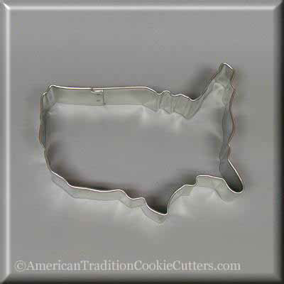 "4.5"" Map of the USA Metal Cookie Cutter-americantraditioncookiecutters"