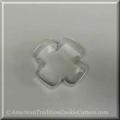 "3.5"" Four Petal Flower Metal Cookie Cutter - American Tradition Cookie Cutters"