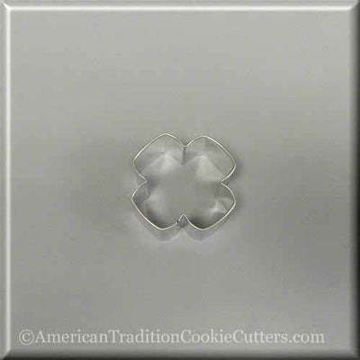 "2.25"" Four Petal Flower Metal Cookie Cutter - American Tradition Cookie Cutters"