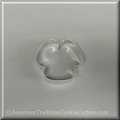 "3"" Three Petal Flower or Floppy Eared Puppy Dog Metal Cookie Cutter-americantraditioncookiecutters"