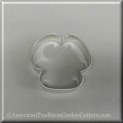 "3.75"" Three Petal Flower or Floppy Eared Puppy Dog Metal Cookie Cutter - American Tradition Cookie Cutters"