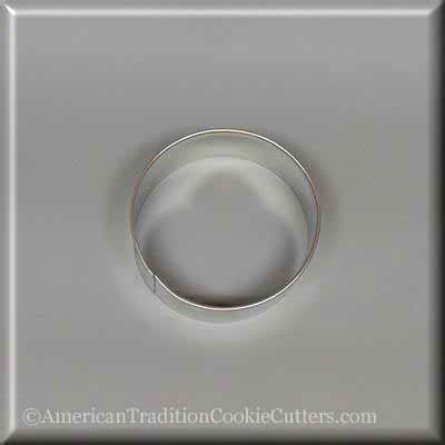 "2.5"" Baseball Metal Cookie Cutter - American Tradition Cookie Cutters"