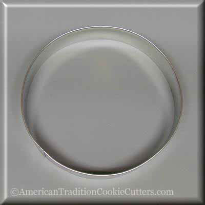 "5"" Round Circle Biscuit Metal Cookie Cutter-americantraditioncookiecutters"
