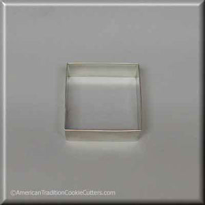 "2.5"" Square Biscuit Metal Cookie Cutter"