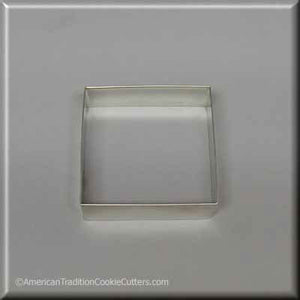 "3"" Square Biscuit Metal Cookie Cutter - American Tradition Cookie Cutters"