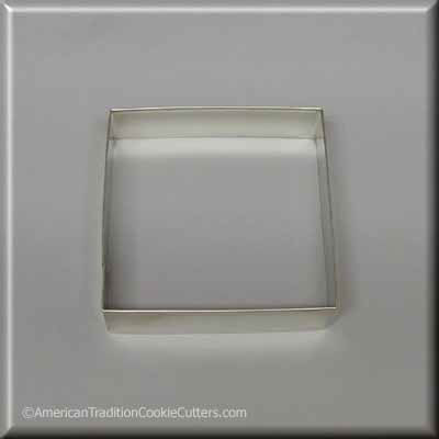 "3.5"" Square Biscuit Metal Cookie Cutter - American Tradition Cookie Cutters"