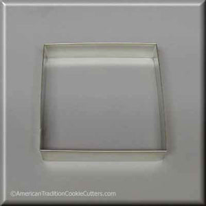 "4"" Square Biscuit Metal Cookie Cutter"