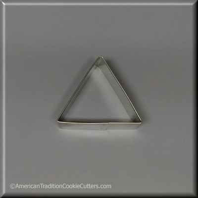 "2.5"" Triangle Biscuit Metal Cookie Cutter - American Tradition Cookie Cutters"