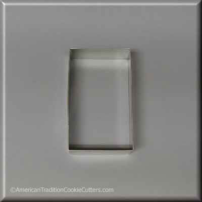 "3-1/2"" X 2-1/16"" Rectangle Biscuit Metal Cookie Cutter - American Tradition Cookie Cutters"