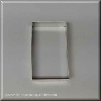 "4"" X 2-3/8""  Rectangle Biscuit Metal Cookie Cutter-americantraditioncookiecutters"