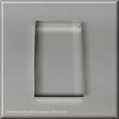 "4-1/2"" X 2-11/16"" Rectangle Biscuit Metal Cookie Cutter-americantraditioncookiecutters"