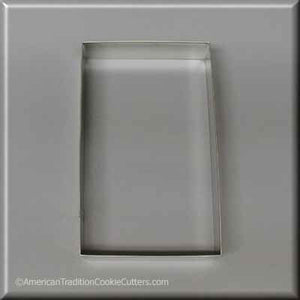 "5"" X 3"" Rectangle Biscuit Metal Cookie Cutter-americantraditioncookiecutters"