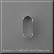 "2.5"" Oval Pill Tablet Drugs Metal Cookie Cutter"
